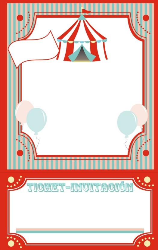 cumpleaños invitacion de circo